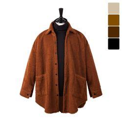 오버핏 양털 셔츠 코트 FLE244