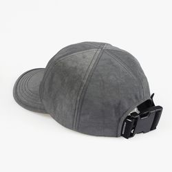 SHIRRING NYLON 6P CAP (CHARCOAL)