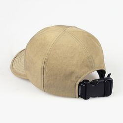 SHIRRING NYLON 6P CAP (BEIGE)