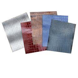와니무늬악어가죽패턴 천연소가죽공예재료
