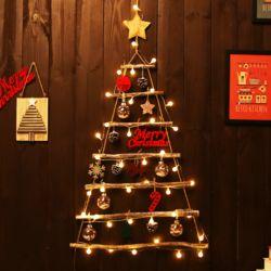 크리스마스 우든 벽트리 풀세트 (빈티지)