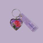 HEART STEEL KEY HOLDER ROSE