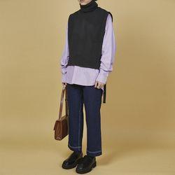layered turtleneck vest (3 color) - UNISEX