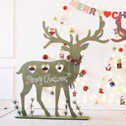 내츄럴 우드사슴 120cm 그린 크리스마스트리