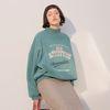 80s Slogan Sweatshirt Green