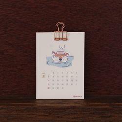 2019 시바견 일러스트 미니 달력