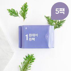 원데이원팩 유기농 생리대 중형 5팩(35P)