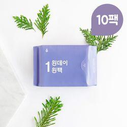 원데이원팩 유기농 생리대  중형 10팩(70P)