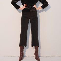 Coduroy Boots Cut Pants Black