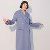 Double Wool Coat Blue