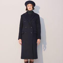 Double Wool Coat Navy