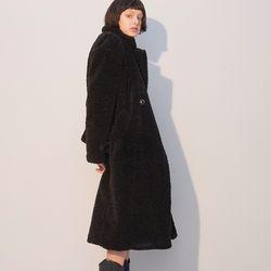 Teddy Bear Long Coat Black