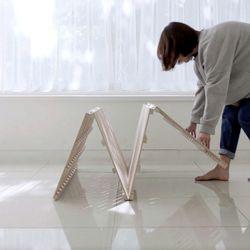 저상형 원목 침대 프레임 우드파레트 Q
