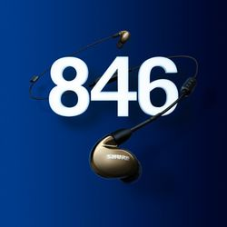 [SHURE]슈어 프리미엄 이어폰 SE846-BT1(V-K)UNI+BT1케이블포함