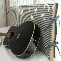 선염 양면 침대 헤드커버 2color - 롱 싱글