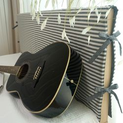 선염 양면 침대 헤드커버 2color - 롱 킹