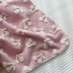 핑크 체리블랭킷(극세사) - 소 사이즈