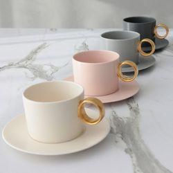 마리벨 골드 커피잔 1인조 세트(4color)