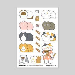 셀프컷팅스티커-042 식빵냥 B (봉지)