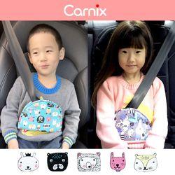 카닉스 애니프랜즈 메모리폼 어린이 안전벨트 커버퍼플