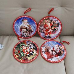 크리스마스 산타 냄비받침(4type)