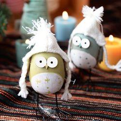 꼬깔 달걀 부엉이(2color)
