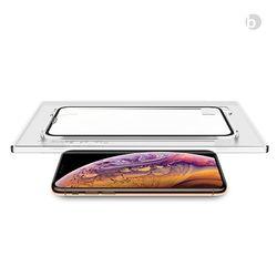 위시비 토리 아이폰XS MAX XR 풀커버 3D 강화유리 장착툴 포함
