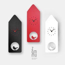 디자인 무소음 벽걸이 시계 버드하우스