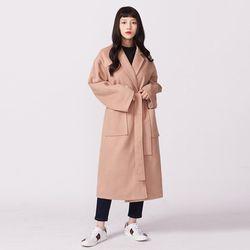 보이프렌드 밀크 코트