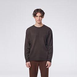 Basic round knit (Brown)