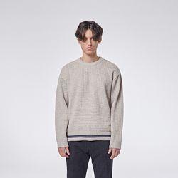 Raving round knit (Beige)