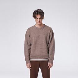 Raving round knit (Brown)