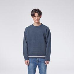 Raving round knit (Navy)