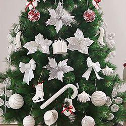 스노우 화이트 장식세트(210cm트리용)  크리스마스