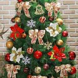 카니발 골드레드 장식세트(210cm트리용)  크리스마스