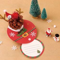 [만들기세트] 루돌프산타 회전카드 (4인용)  크리스마스 성탄절