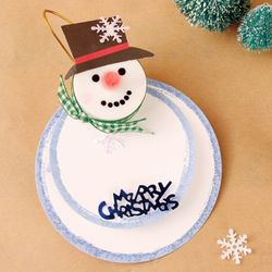 [만들기세트] 스노우맨 회전카드 (4인용)  크리스마스 성탄절