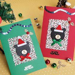 [만들기세트] 우드베어카드 (5인용)  크리스마스카드만들기