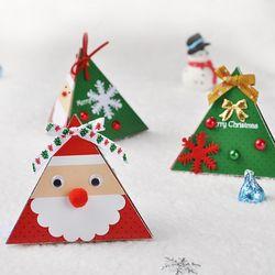 [만들기세트] 산타입체카드 (5인용)  크리스마스카드만들기