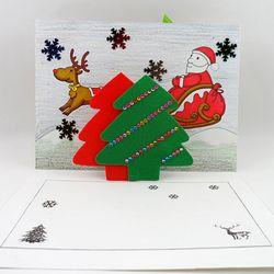 [만들기패키지] 트리팝업카드 (5인용)  크리스마스카드만들기