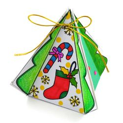[만들기패키지] 캔디상자 카드 (5인용)  크리스마스카드만들기