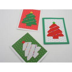 [만들기패키지] 트리미니카드 (5인용)  크리스마스카드