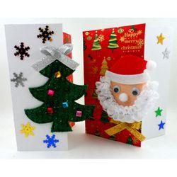 [만들기패키지] 레드앤화이트카드 (5인용)  크리스마스카드