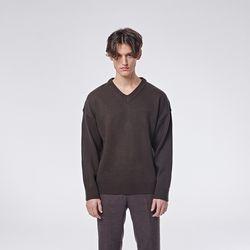 Herrash V neck knit (Khaki)