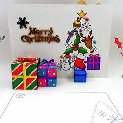 [만들기패키지] 크리스마스 선물팝업카드 (5인용)