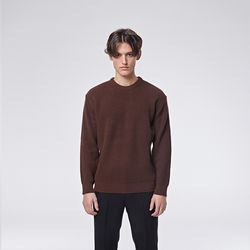 Modern round knit (Brown)