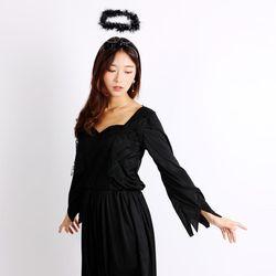 천사의상 성인용(블랙)