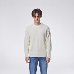 Modern round knit (White)