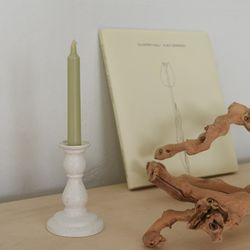 Ceramic candle holder-Oatmeal stone