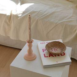 Ceramic candle holder-Pale peach